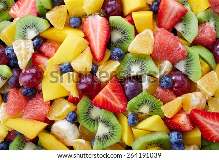 Background of healthy fresh fruits #264191039