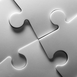 Background of jigsaw puzzle. In B/W