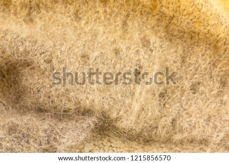 background of knitted shawl in brown mohair and silk wool