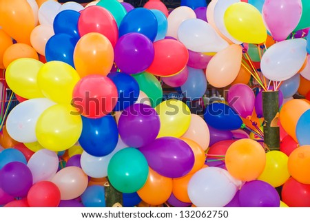 Background of many colorful balloons.