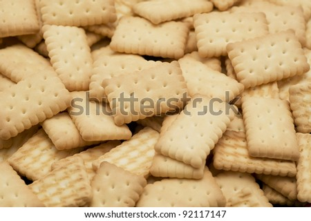 Background of many crackers