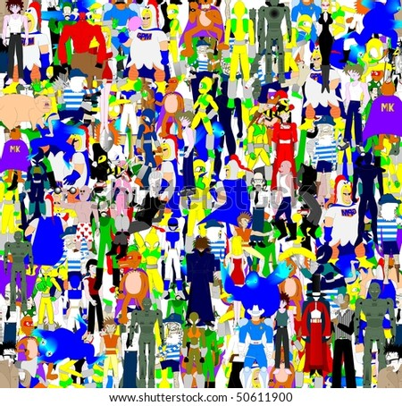 Background of many fictional heroes