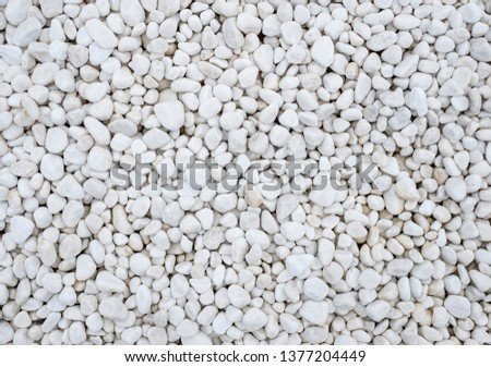 background of many large and small white stones