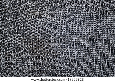Background of medieval armour made from metal rings