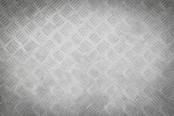 Background of metal diamond plate pattern.