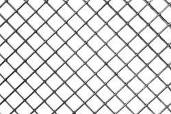 background of metal mesh, white