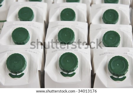 Background of milk cartons.