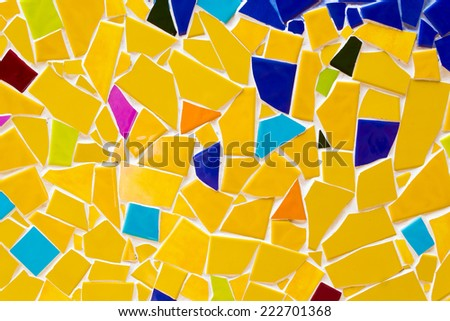 Background of mosaic tiles in a bold pattern #222701368