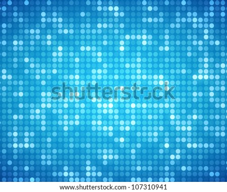 Background of multiples blue dots