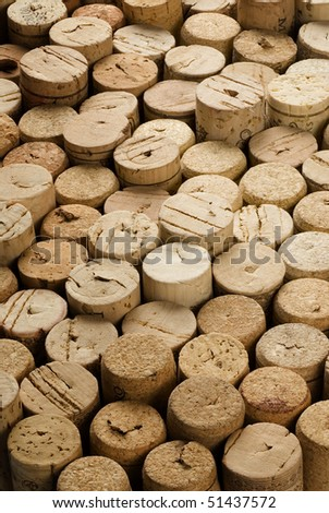 background of natural corks used