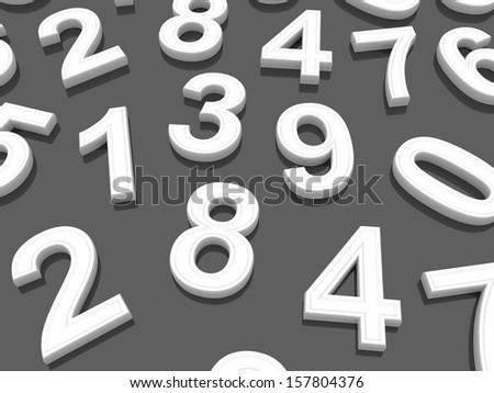 Background of numbers. from zero to nine. #157804376