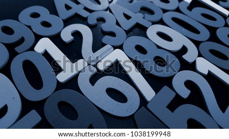 Background of numbers. from zero to nine. Background with numbers. Numbers texture #1038199948
