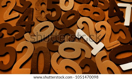 Background of numbers. from zero to nine. Background with numbers. Numbers texture #1051470098