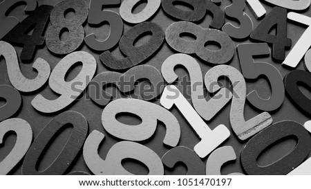 Background of numbers. from zero to nine. Background with numbers. Numbers texture #1051470197