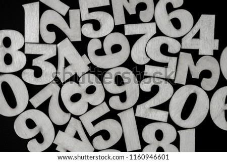 Background of numbers. from zero to nine. Background with numbers. Numbers texture #1160946601