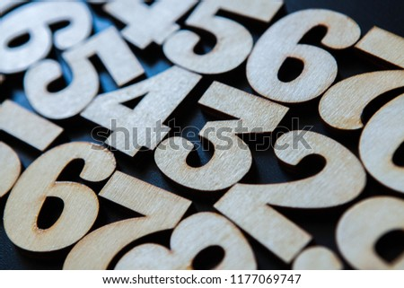Background of numbers. from zero to nine. Background with numbers. Numbers texture #1177069747