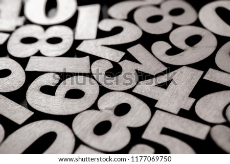 Background of numbers. from zero to nine. Background with numbers. Numbers texture #1177069750