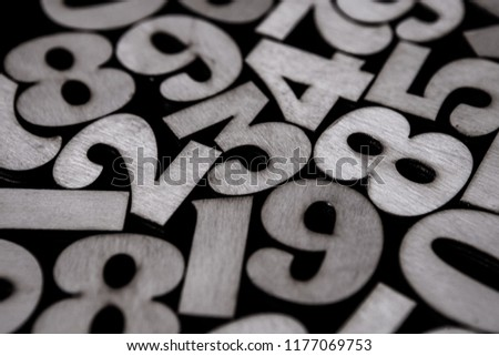 Background of numbers. from zero to nine. Background with numbers. Numbers texture #1177069753
