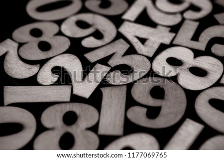 Background of numbers. from zero to nine. Background with numbers. Numbers texture #1177069765