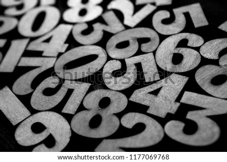 Background of numbers. from zero to nine. Background with numbers. Numbers texture #1177069768