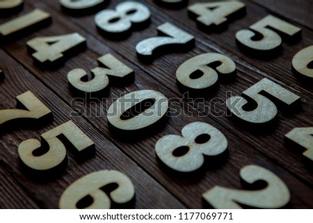 Background of numbers. from zero to nine. Background with numbers. Numbers texture #1177069771