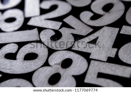 Background of numbers. from zero to nine. Background with numbers. Numbers texture #1177069774