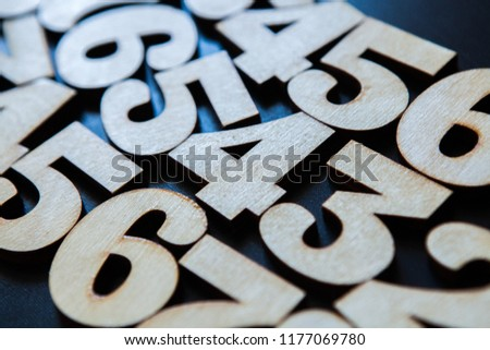 Background of numbers. from zero to nine. Background with numbers. Numbers texture #1177069780