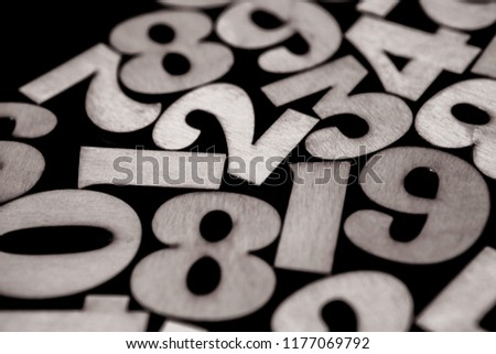 Background of numbers. from zero to nine. Background with numbers. Numbers texture #1177069792