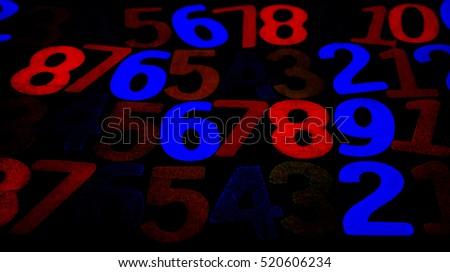 Background of numbers. from zero to nine. Background with numbers. Numbers texture. #520606234
