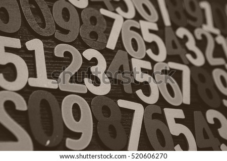 Background of numbers. from zero to nine. Background with numbers. Numbers texture. #520606270
