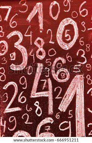 Background of numbers. from zero to nine. Background with numbers. Numbers texture. #666951211