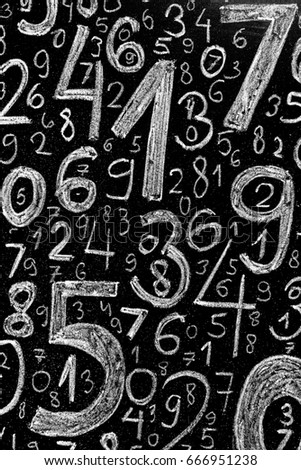 Background of numbers. from zero to nine. Background with numbers. Numbers texture. #666951238