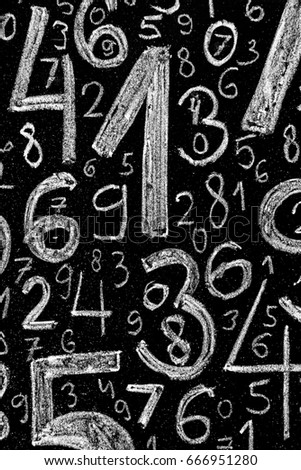 Background of numbers. from zero to nine. Background with numbers. Numbers texture. #666951280