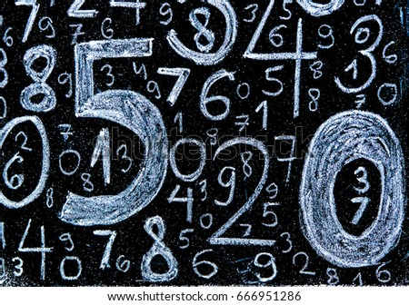 Background of numbers. from zero to nine. Background with numbers. Numbers texture. #666951286