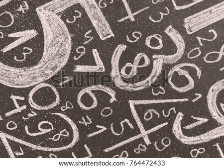 Background of numbers. from zero to nine. Background with numbers. Numbers texture.