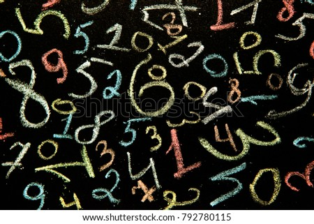 Background of numbers. from zero to nine. Background with numbers. Numbers texture #792780115