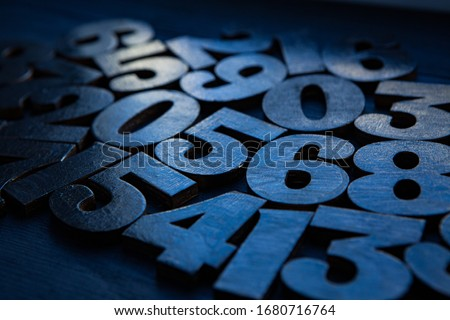 Photo of  Background of numbers. from zero to nine. Numbers texture. Finance data concept. Matematic. Seamless pattern with numbers. financial crisis concept. Business success.