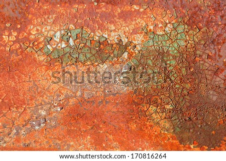 Background of old, rusted metal