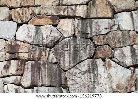 Background of old stone wall texture, close up