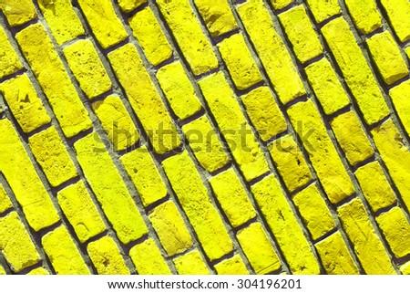 Background of old vintage brick wall , brick wall closeup #304196201