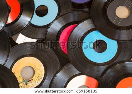 Background of old vinyl records #659158105