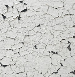 background of old wall with peel paint crack texture surface