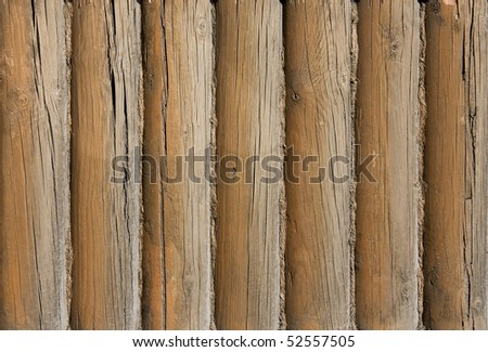 Background of old weathered wooden boards (beams)