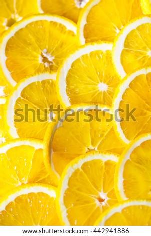 Background of orange slices. #442941886