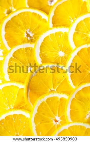 Background of orange slices. #495850903