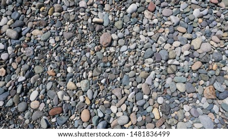 Background of pebbles. Sea pebbles beach.
