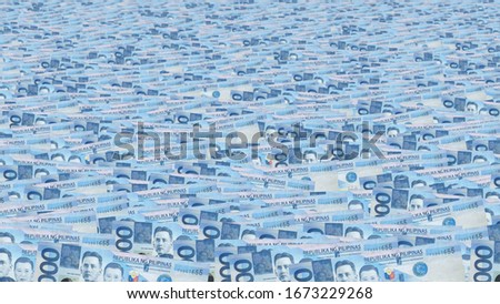 Background of 1000 Philippine peso banknotes Foto stock ©