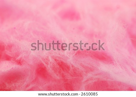 Background of pink cotton candy close up
