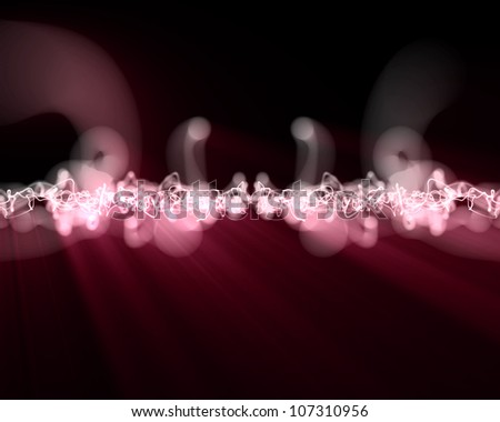 Background of pink form of lightning - stock photo