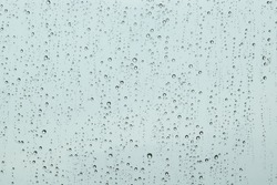 Background of raindrops on a window